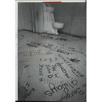 1983 Press Photo Toilet inside the Kootenai County Jail - spa67726
