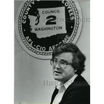 1984 Press Photo John Cole Labor Union Spokesman - spa67980