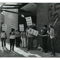 1983 Press Photo Workers of America Labor Unions strike against Bell System