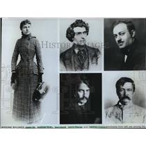 1981 Press Photo Journalists-Nellie Bly, Matthew Brady, Ben Hecht, Henry Sanley