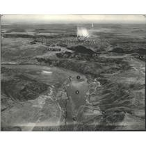 1936 Press Photo Aerial view of Coulee Dam - spa72176