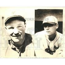 1938 Press Photo STL Browns mgr. Fred Haney and STL Cardinals mgr. Ray Blades