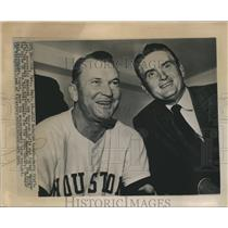 1961 Press Photo Harry Craft named new manager of Houston Colt 45s team