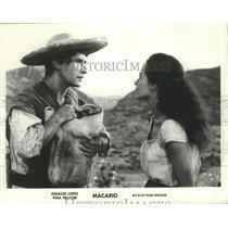 1964 Press Photo Ignacio Lopez and Pina Pellicer star in Macario. - spp11522