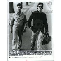 1992 Press Photo Dustin Hoffman and Tom Cruise star in Rainman, on ABC.