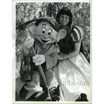 1987 Press Photo Disney's Golden Anniversary of Snow White and the Seven Dwarfs.