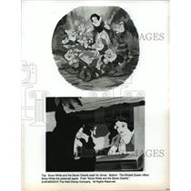 1937 Press Photo Scenes from Walt Disney's Snow White and the Seven Dwarfs.