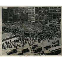 1931 Press Photo New York View of the Communist Mass Meeting in the Square NYC