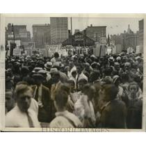 1931 Press Photo New York Communist Held Antiwar Demonstration Union Square NYC