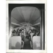 1945 Press Photo Preview of the postwar airline luxury seating - ney27990