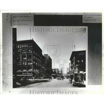 1921 Press Photo Old Spokane, WA-Riverside looking west, Wall St. to Post St.