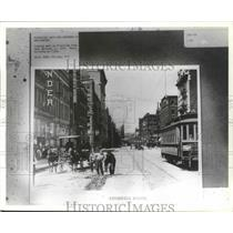 1910 Press Photo Old Spokane, WA- Looking west on Riverside from near Bernard
