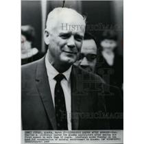 1968 Wire Photo Charles Lindbergh speaks on Alaska environmental issues