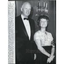 1968 Wire Photo Charles A. Lindbergh and wife Anne, honored at Plaza Hotel