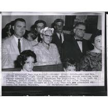 1960 Wire Photo Mr. and Mrs. Powers attend church before trip to Russia