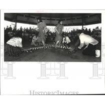 1988 Press Photo Camillia Dans Troupe of Filipino America Assoc. at Festival