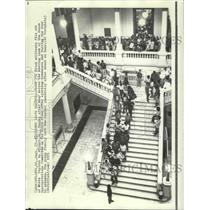 1971 Press Photo Civil Rights Protesters at City Hall, Atlanta, Georgia