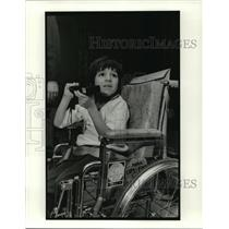 1980 Press Photo National Muscular Dystrophy Association - Rocky Arizzi
