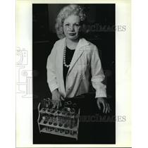 1990 Press Photo Harriet Aguiar, Teacher, St. Martin Episcopal School, Metairie