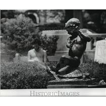 1977 Press Photo Water Statue in Audubon Park - noa22003