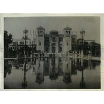 1928 Press Photo The Beautiful Palace of Arts building, Seville, Spain