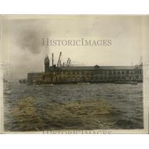 1928 Press Photo New York Harbor 2nd International Lifeboat Race Labor Day NYC