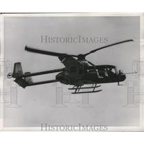 1955 Press Photo Army's XV-1 Convertiplane, World's First Helicopter to Airplane