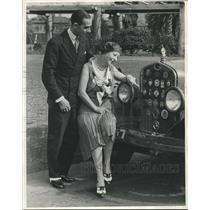 1931 Press Photo Roger Lacour, French racer, & wife, singer Odette Darthys