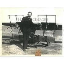 1930 Press Photo Ernest Schroder to test flight paddle-wheel propeller plane