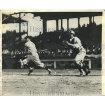 1930 Press Photo Sam West of Senators in the opening game between Red Sox