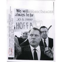 1964 Press Photo Chattanooga TN Teamsters head James Hoffa at a trial