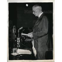 1940 Press Photo Secretary of State Cordell Hull Addresses Assembled Delegates