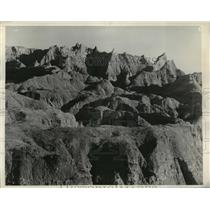 1935 Press Photo The South Dakota Badlands - mja85178