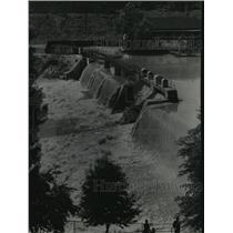 1940 Press Photo waters surged over North Avenue Dam after three days of rain