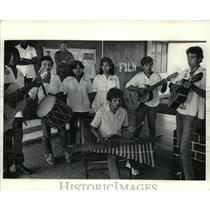 1984 Press Photo Students from Nicaragua played songs at Cuba's Isle of Youth.