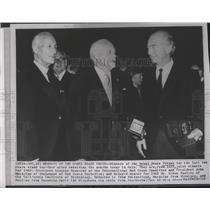 1963 Press Photo Nobel Peace Prize winners: Leopold Brosier & John MacAulay
