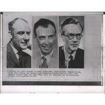 1962 Press Photo Nobel Prize winners for Medicine : Drs. Crick, Watson & Wilkins