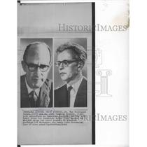 1962 Press Photo Dr Max Ferdinand Perutz & Dr John Cowdery Kendrew- Nobel Prize