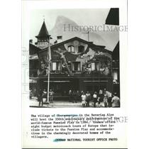 1983 Press Photo The Village of Oberammergau in the Bavarian Alps - spa82566