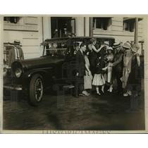 1923 Press Photo Mayor Breidenback Newark Car Used during Transportation Strike