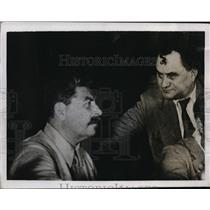 1935 Press Photo Josef Stalin, Georgi Demitroff at World Congress of Comintern