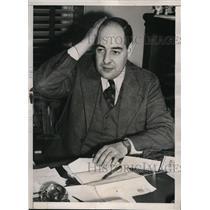 1938 Press Photo Consul Max R. Glazer at F. Donald Coster Inquiry, Boston