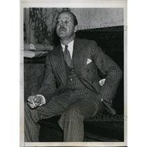 1934 Press Photo John B. Snow at House Un-American Activities Hearing