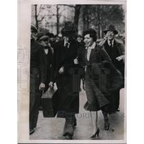 1935 Press Photo Mrs George Switz Freed After Several Months Spent in Prison