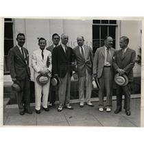1933 Press Photo Interor Secy Harold Ickes & Hugh Johnson at White House