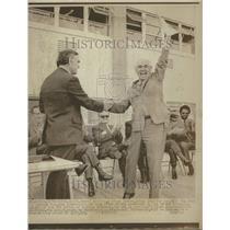 1971 Press Photo David Risling Receives Deed To US Base - RRV69597