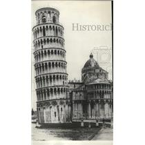 1923 Press Photo Straightening process of the Leaning Tower of Pisa in Italy