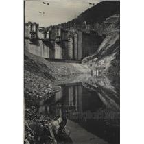 1951 Press Photo New lake in Montana behind Hungry Horse Dam - spa59163