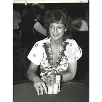 1983 Press Photo Gambling-poker - spa62861