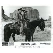 1994 Press Photo Paul Hogan and Cuba Gooding Jr. in Lightning Jack. - spp07127